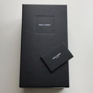 Authentic Saint Laurent Shoe Box, Tissue & ID Card